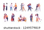 collection of lgbt or couples... | Shutterstock .eps vector #1249579819