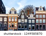 traditional houses in amsterdam | Shutterstock . vector #1249585870