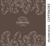 background with porphyra ... | Shutterstock .eps vector #1249586383