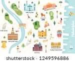 detailed illustrated map of... | Shutterstock .eps vector #1249596886