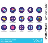 human resources icons including ... | Shutterstock .eps vector #1249598539