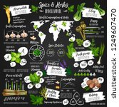 spices and herbs infographic... | Shutterstock .eps vector #1249607470