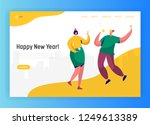 corporate new year party... | Shutterstock .eps vector #1249613389