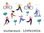active people outdoor in the...   Shutterstock .eps vector #1249614016