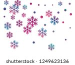 crystal snowflake and circle... | Shutterstock .eps vector #1249623136