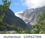 the franz josef glacier on the... | Shutterstock . vector #1249627306