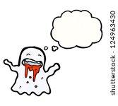 cartoon gross ghost | Shutterstock .eps vector #124963430