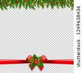 christmas garlands transparent... | Shutterstock .eps vector #1249638436