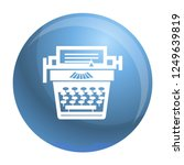 old typewriter icon. simple... | Shutterstock .eps vector #1249639819