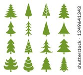 set of christmas trees  ... | Shutterstock .eps vector #1249641343