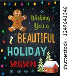 christmas greeting card  ... | Shutterstock .eps vector #1249641346