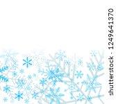 blue snowflakes on white...