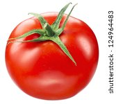 tomato on white. with clipping... | Shutterstock . vector #124964483