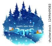 seasons greeting and happy new... | Shutterstock .eps vector #1249649083