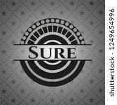 sure black emblem. vintage. | Shutterstock .eps vector #1249654996