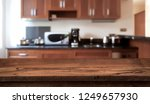 wooden table in front of... | Shutterstock . vector #1249657930