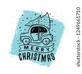 merry christmas. typography.... | Shutterstock .eps vector #1249661710