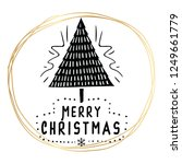merry christmas. typography.... | Shutterstock .eps vector #1249661779