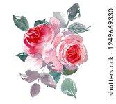 vintage flower overwhite...   Shutterstock . vector #1249669330