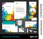 color corporate identity... | Shutterstock .eps vector #124966958