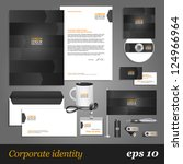 grey corporate identity... | Shutterstock .eps vector #124966964