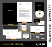 black corporate identity... | Shutterstock .eps vector #124966979