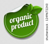 organic product label isolated... | Shutterstock . vector #1249672243