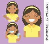 brushing teeth activities... | Shutterstock .eps vector #1249682329