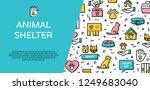 vector animal shelter icon... | Shutterstock .eps vector #1249683040