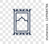 islamic praying carpet icon.... | Shutterstock .eps vector #1249684786