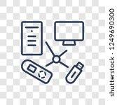 hardware icon. trendy linear... | Shutterstock .eps vector #1249690300