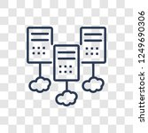 hosting icon. trendy linear... | Shutterstock .eps vector #1249690306