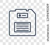 floppy disk icon. trendy linear ... | Shutterstock .eps vector #1249690309