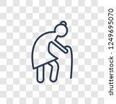 pensioner icon. trendy linear...   Shutterstock .eps vector #1249695070
