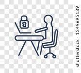 information security analyst... | Shutterstock .eps vector #1249695139