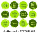 vector organic labels  bio... | Shutterstock .eps vector #1249702570