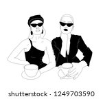 hand drawn vector fashion... | Shutterstock .eps vector #1249703590