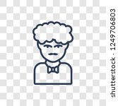 man face curly hair and... | Shutterstock .eps vector #1249706803