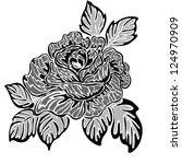 rose motif  pattern   Shutterstock . vector #124970909