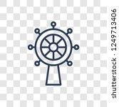 boat steering wheel icon....   Shutterstock .eps vector #1249713406