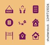 residential icon. residential... | Shutterstock .eps vector #1249715026