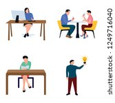 for working together and... | Shutterstock .eps vector #1249716040