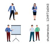for working together and... | Shutterstock .eps vector #1249716043