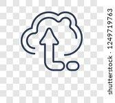 upload icon. trendy upload logo ... | Shutterstock .eps vector #1249719763