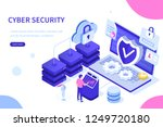 cyber security concept with... | Shutterstock .eps vector #1249720180