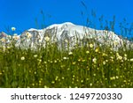 the snow covered peaks of the... | Shutterstock . vector #1249720330