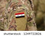 flag of syria on soldiers arm ...   Shutterstock . vector #1249722826