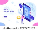data protection with biometric... | Shutterstock .eps vector #1249723159