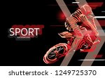 modern poster for sports. motor ... | Shutterstock .eps vector #1249725370