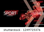 modern poster for sports. motor ... | Shutterstock .eps vector #1249725376